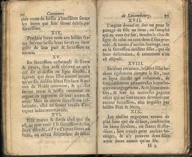 Coutumes Générales des Pays Duché de Luxembourg pages 90 - 91