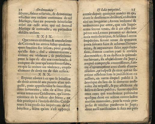 Ordonnance et Edit perpétuel des Archiducs pages 22 - 23