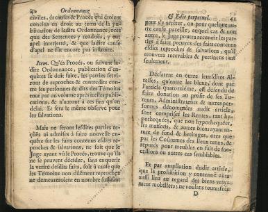 Ordonnance et Edit perpétuel des Archiducs pages 40 - 41