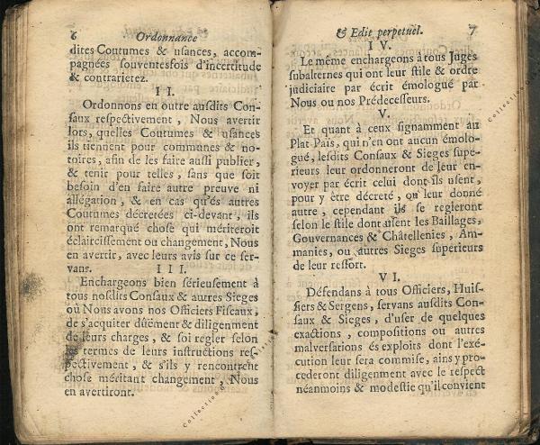 Ordonnance et Edit perpétuel des Archiducs pages 6 - 7