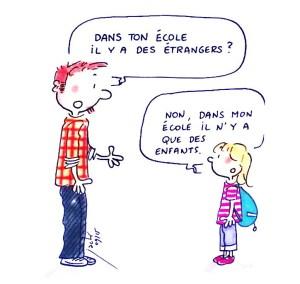 Pour les enfants il n'y a pas d'étrangers
