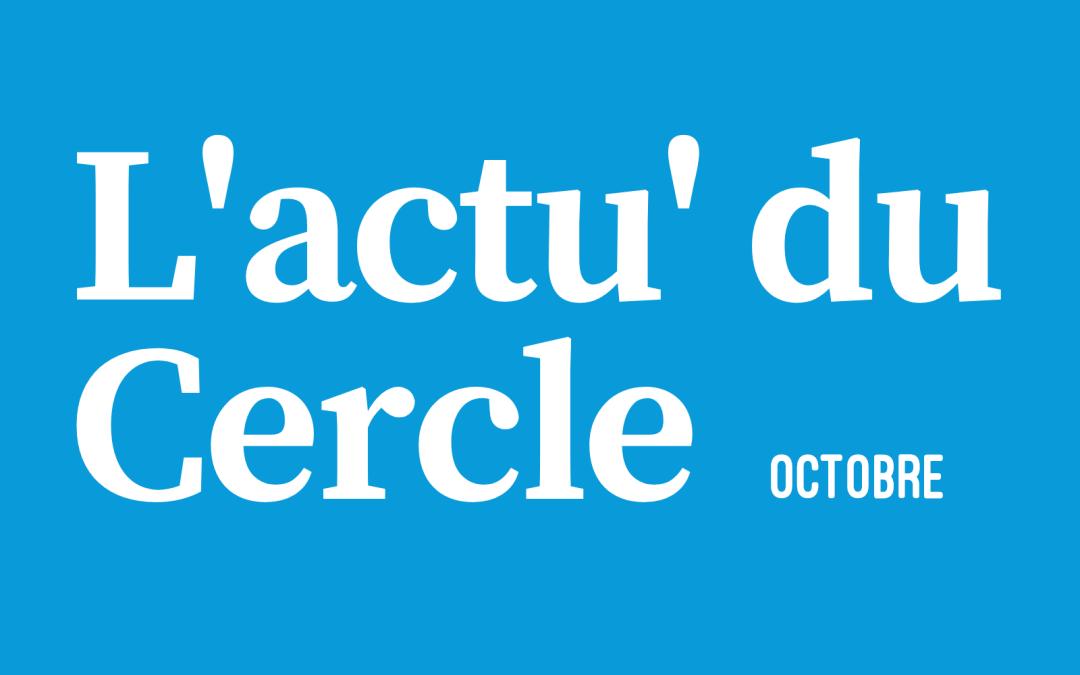 La lettre d'actu – Octobre