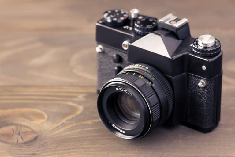 Primo piano su macchina fotografica