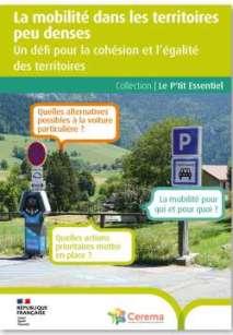 La mobilité dans les territoires peu denses - Un défi pour la cohésion et l'égalité des territoires