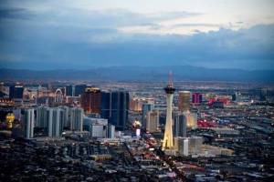 Helicopter-Flight-and-Ceremony-over-the-Las-Vegas-Strip-aerial-view