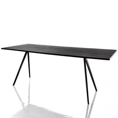 baguette grande table a manger design magis noir 205x85 cm