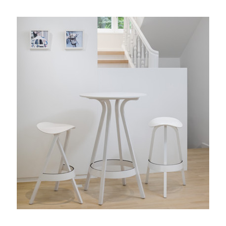 1410 table haute thonet blanc laque