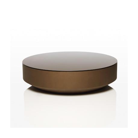 table basse design ronde vela vondom bronze