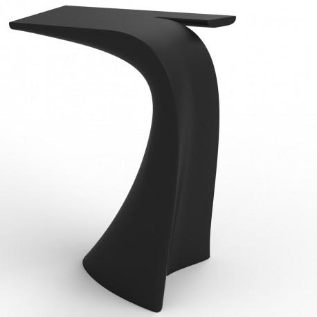 table haute design wing vondom noir mat