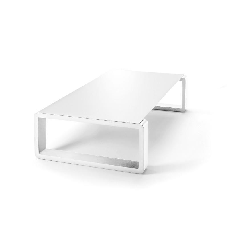 kama table basse aluminium givre ego paris blanc givre blanc