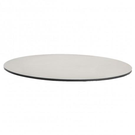 plateau de table hpl blanc tranche noire diametre 60 cm