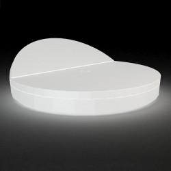 bain de soleil rond design vela daybed dossier inclinable vondom lumineux led blanc