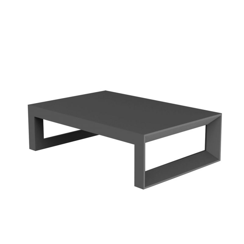 table basse frame 120 cm vondom gris anthracite mat
