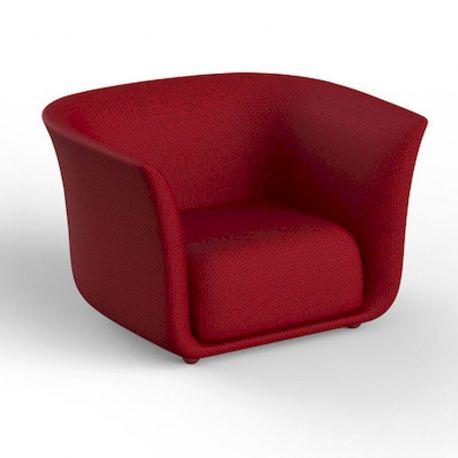 fauteuil exterieur design suave vondom tissu deperlant rouge grenade 1046