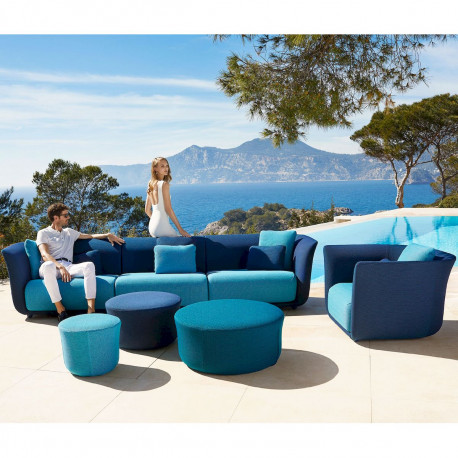 ensemble salon de jardin modulable suave vondom tissu deperlant bleu outre mer 1002 et aquamarina 1003