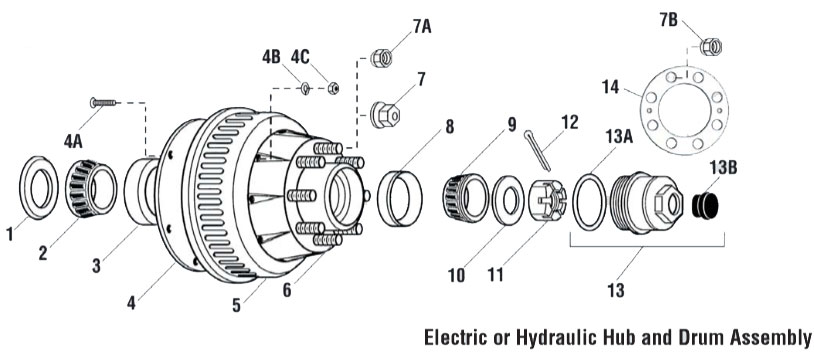 General Duty 10K Axle (99 Spindle)