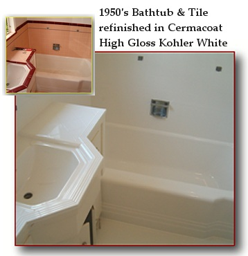 Cermacoat Bathtub refinishing and Bathtub reglazing repair