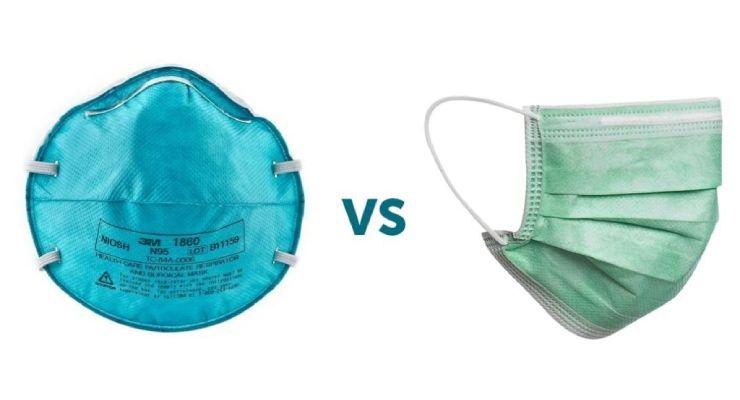 Diferencias entre los respiradores desechables y las mascarillas quirúrgicas