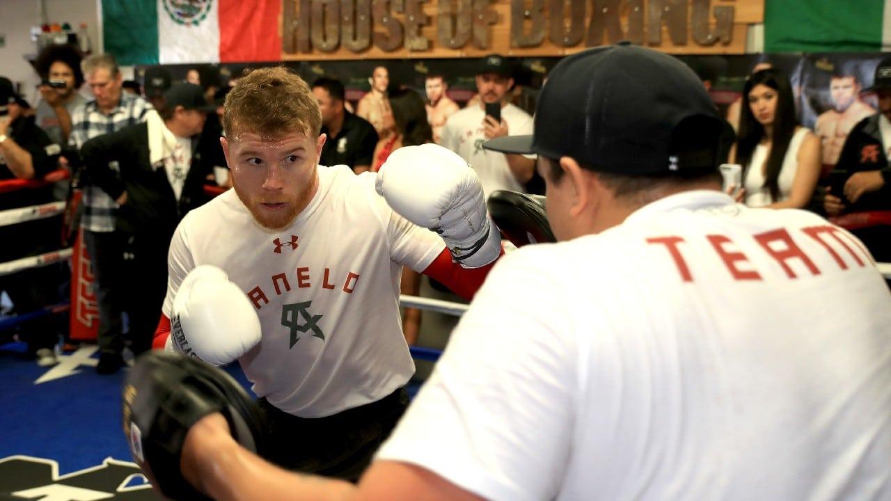 Álvarez comparte entrenamiento con el Team Canelo
