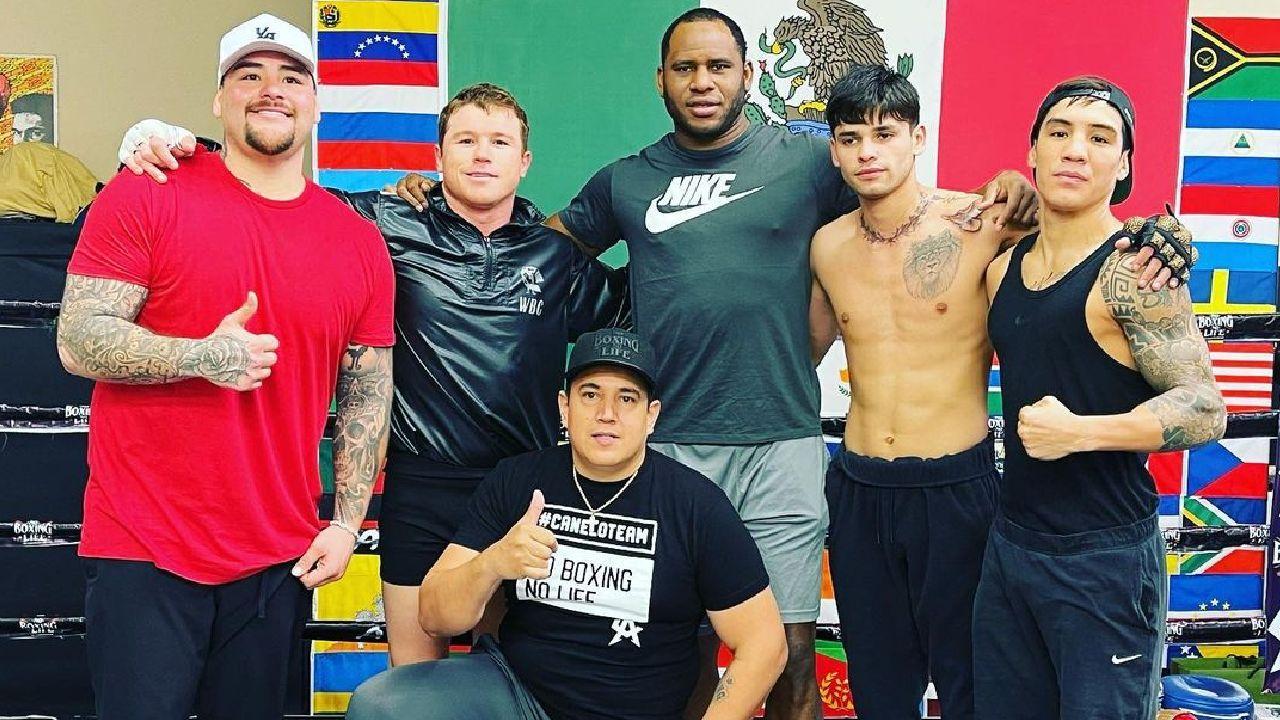 Estos son boxeadores integrantes del Team Canelo