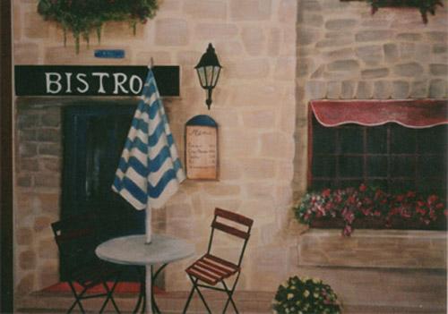 Debbie Cerone Wall Murals  French Bistro Kitchen Mural