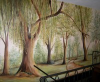 Painted Tree Mural | Muralist Debbie Cerone | Wall Murals