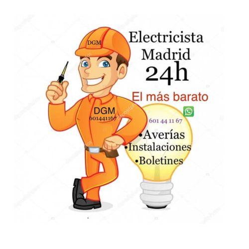 Electricistas Madrid 24 Horas 601441167 WhatsApp .