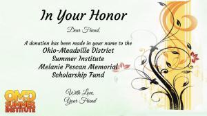 Scholarship Fund Sample Certificate