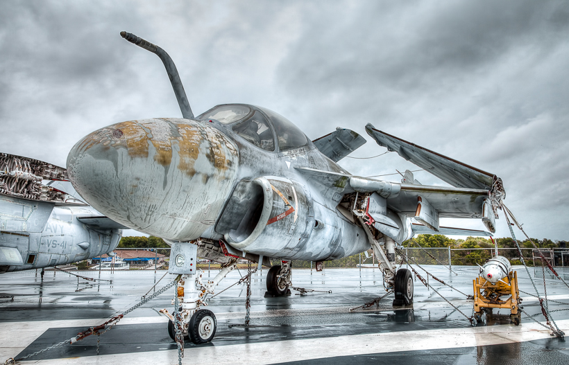 Decomissioned A-6E Intruder - a 3-image HDR will be the photo we'll be creating in this HDR tutorial