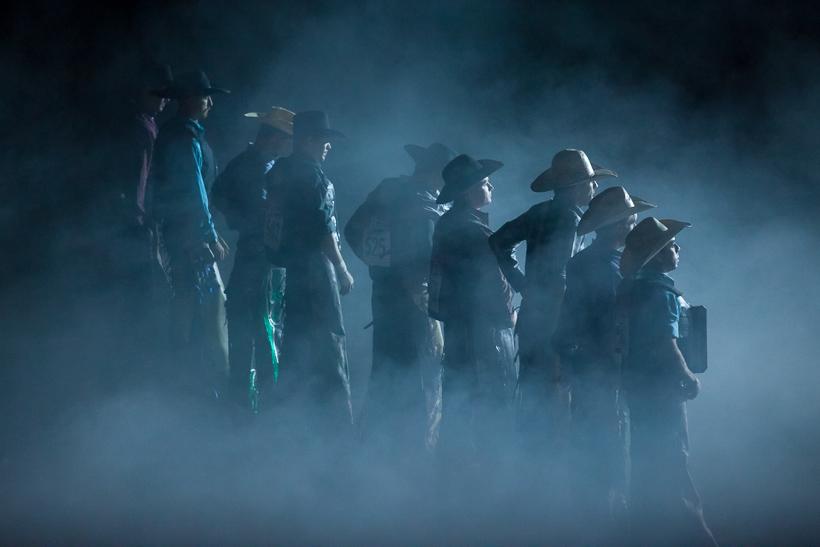 Bull Riders in the Mist