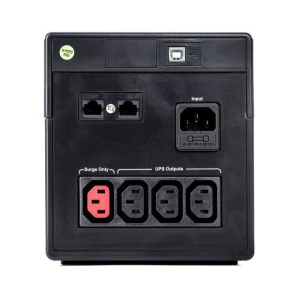 C200-1000 Rear and Plug sockets