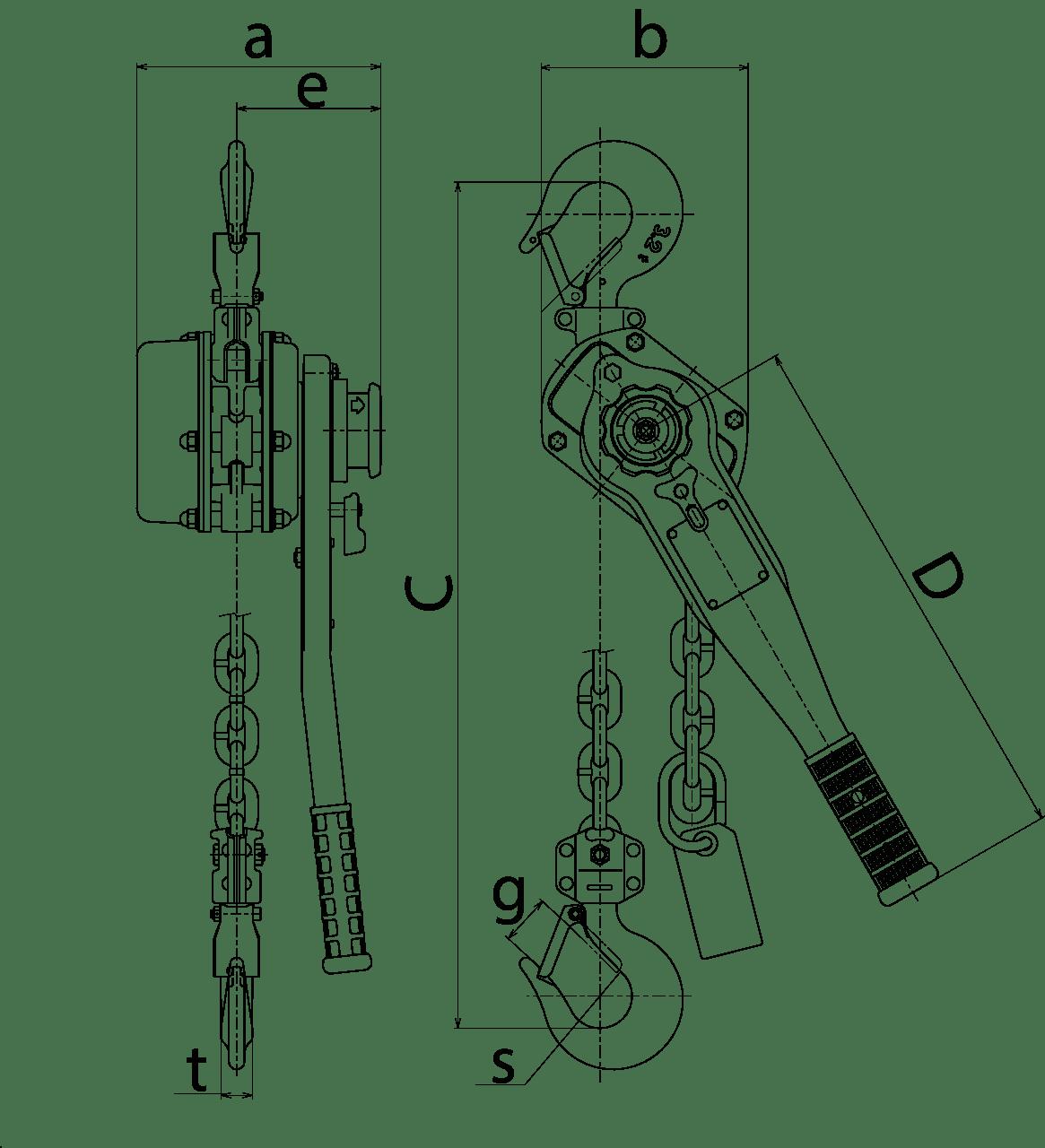 Lever Hoist Kito Lb Series