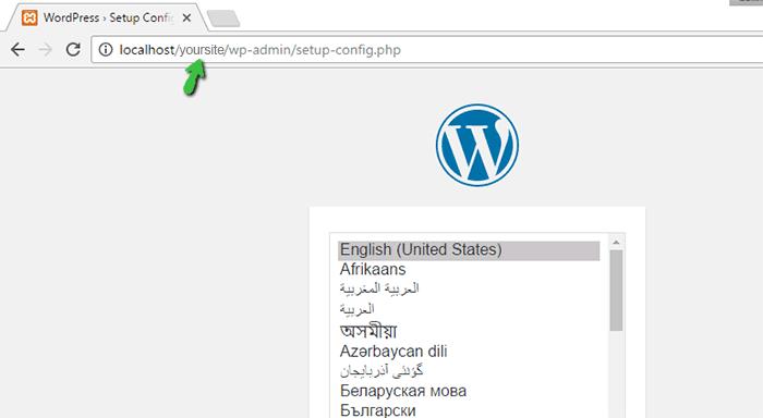 Install WordPress on localhost using XAMPP Server
