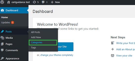 WordPress Categories Menu