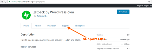 Get Support for Plugins in WordPress