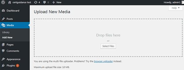 Upload Media Files in WordPress