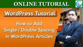 Adding Single and Double Spacing in WordPress