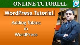 Add tables in WordPress thumb