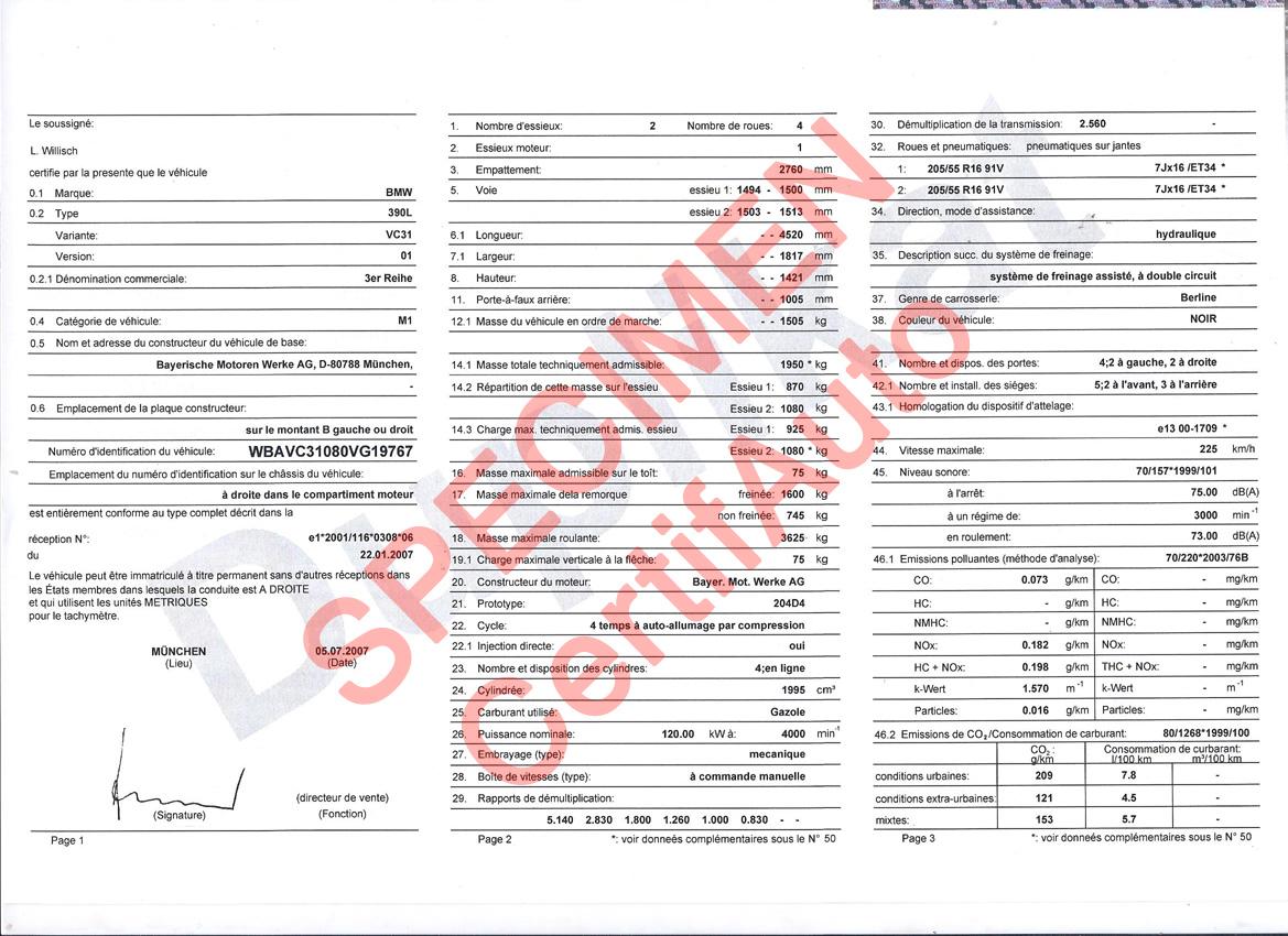 Site Officiel CertifAuto France Certificat De Conformit