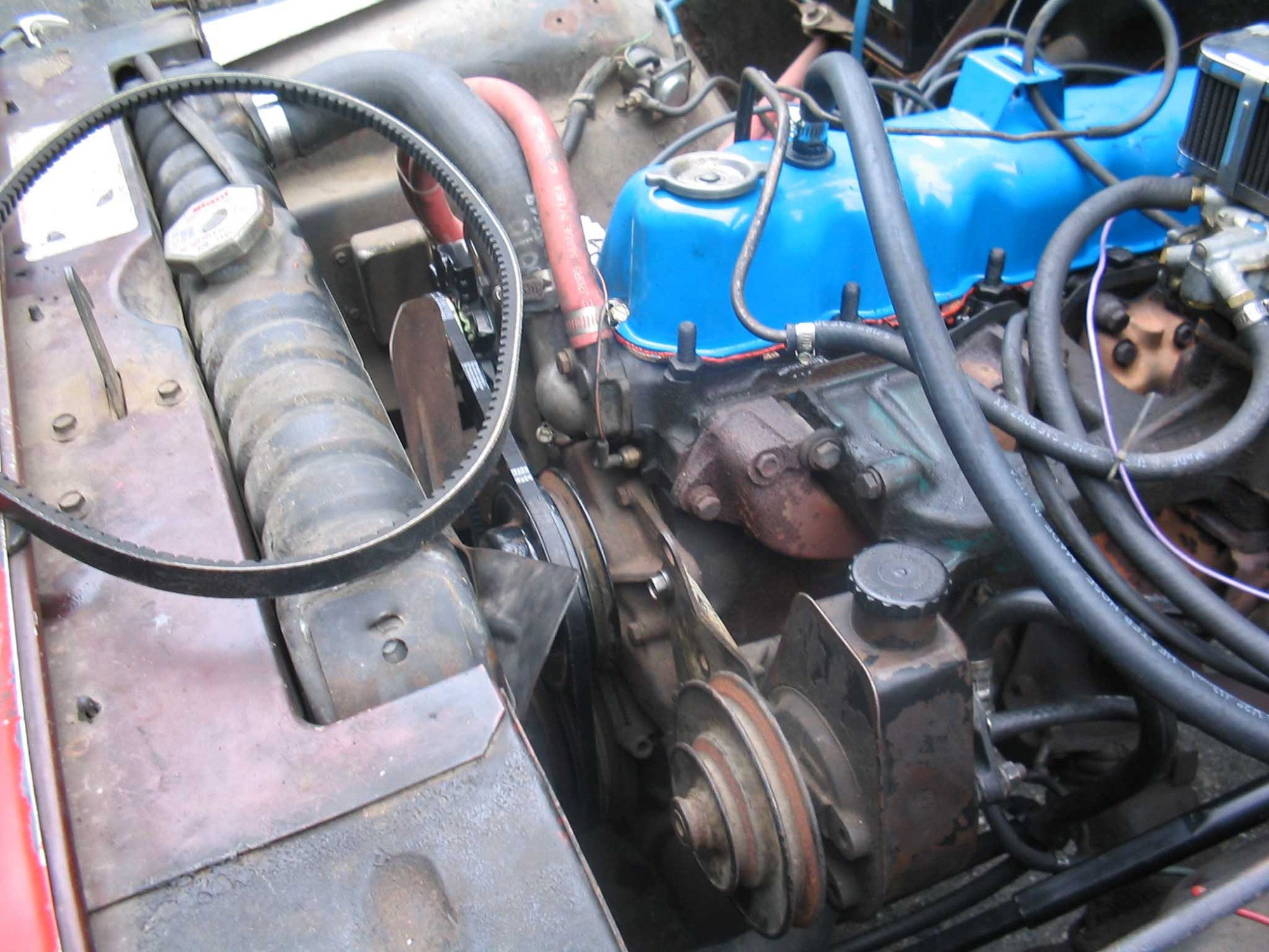hight resolution of the new hoses required that the system be bled the easiest way to do this is to fill up the reservoir on the power steering unit and leave the cap off