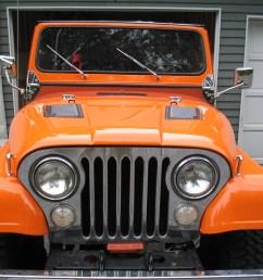 jeep cj7 orange [ 2048 x 1536 Pixel ]