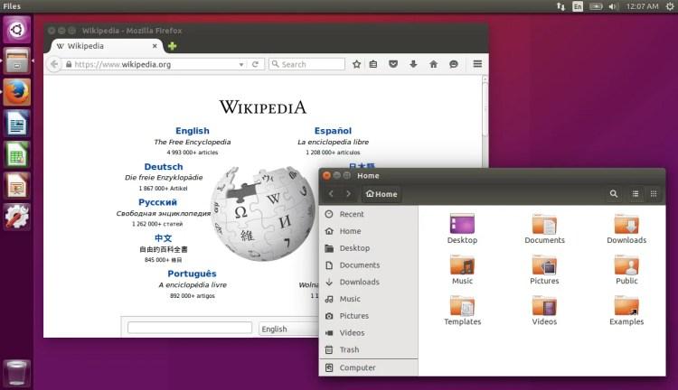 Ubuntu_15.10_with_Firefox_and_Nautilus_open O que as distribuições Linux tem em comum?