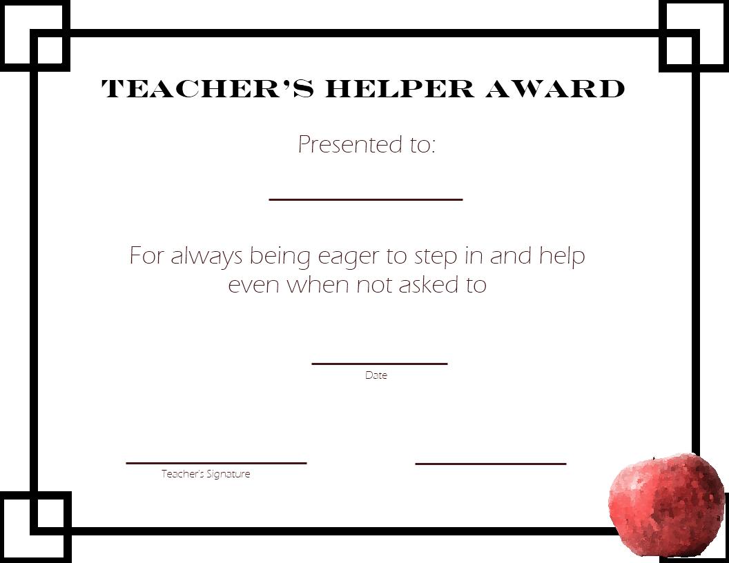 teacher-school-Printable Student Awards