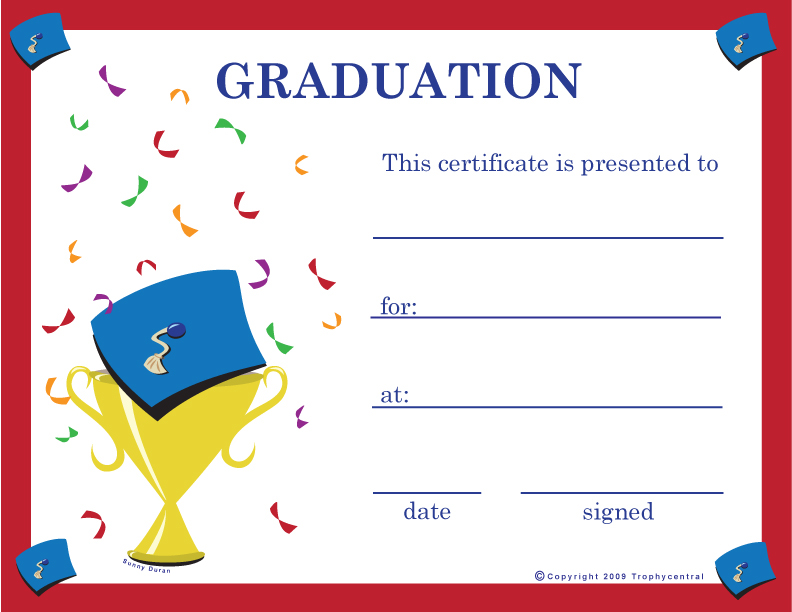 ... Sample Certificates For Kids Ms Word Graduation Certificate   Kids Certificate  Templates ...  Graduation Certificate Template Word