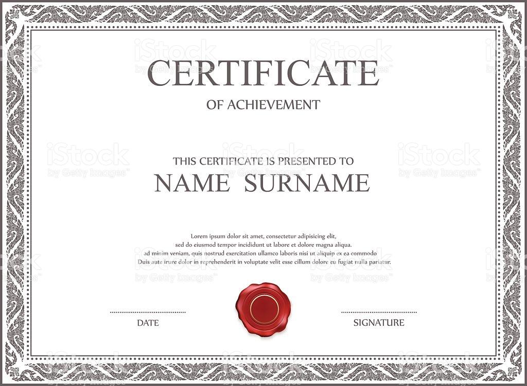 stock certificate template word download
