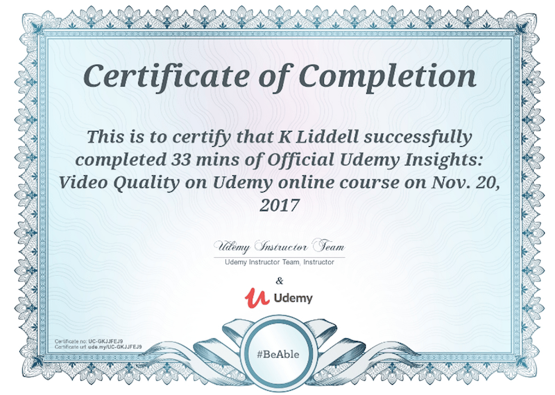 Certificate Udemy Certificates Templates Free