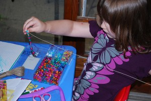 Kids Craft Idea  Making a Beaded Necklace  Certificate Street  Ideas to help you celebrate