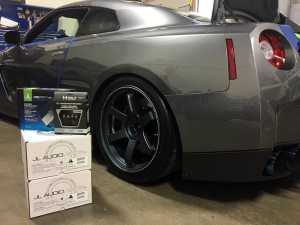 Nissan GTR Radar and Laser System and Audio Upgrades