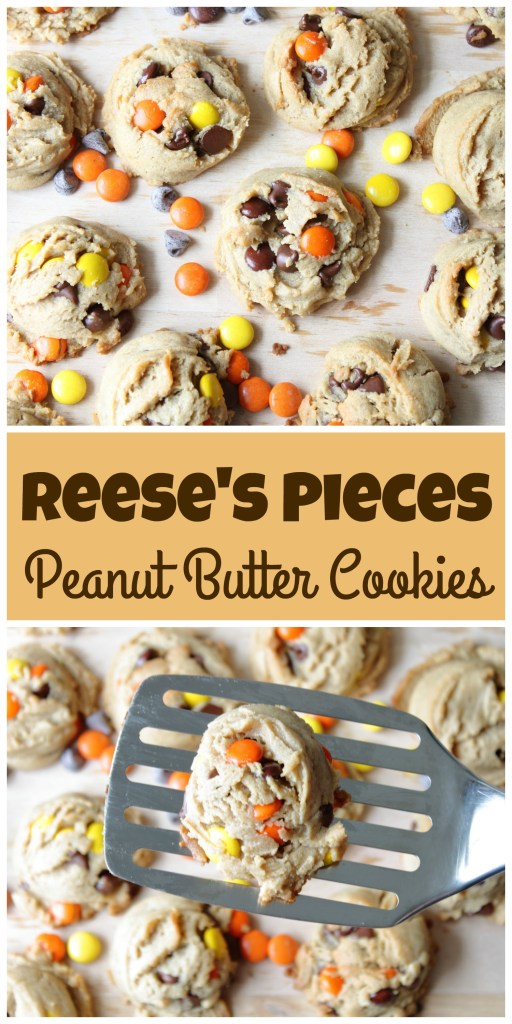 Reese's Pieces Peanut Butter Cookies picture collage