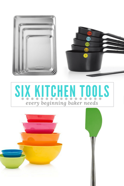collage of kitchen tools and text image